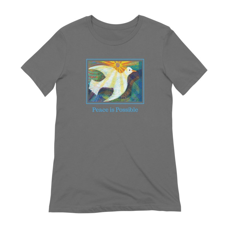 White Dove ~ Peace is Possible! in Women's Extra Soft T-Shirt Asphalt by Heni Sandoval - Color & Light  Artist Shop