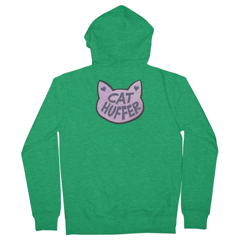 Cat Huffer Men's Zip-Up Hoody by Henry Noodle Shop