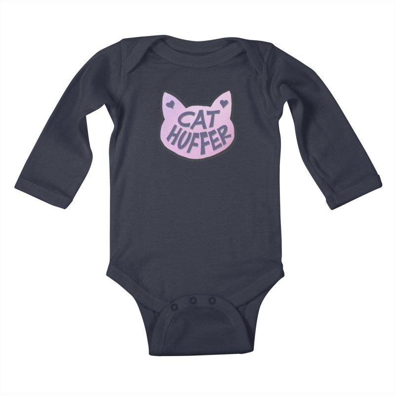 Cat Huffer Kids Baby Longsleeve Bodysuit by Henry Noodle Shop