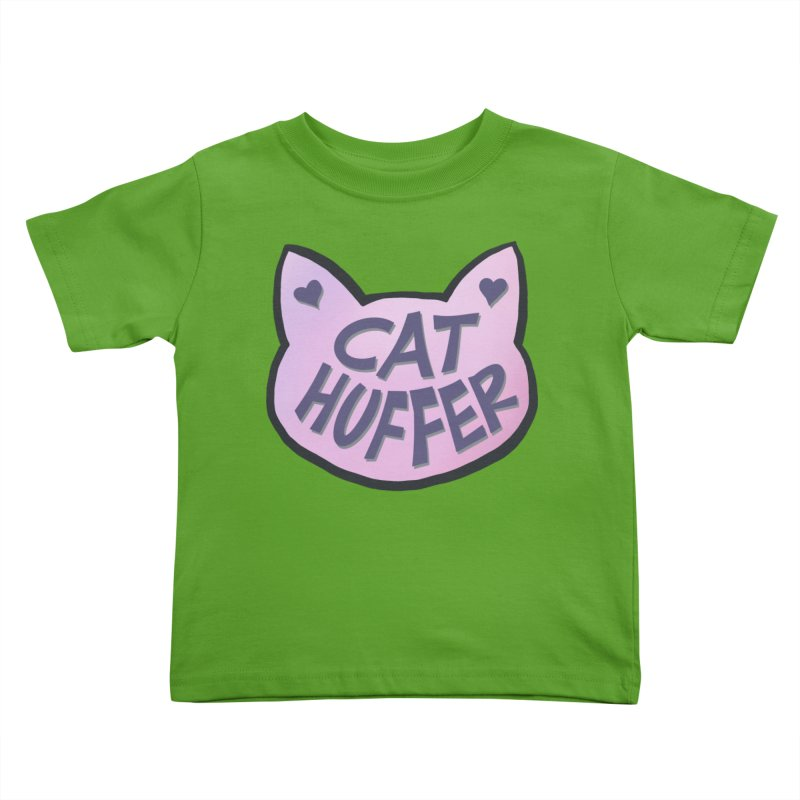 Cat Huffer Kids Toddler T-Shirt by Henry Noodle Shop