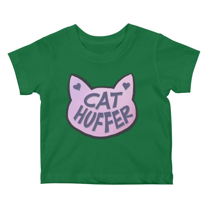Cat Huffer Kids Baby T-Shirt by Henry Noodle Shop