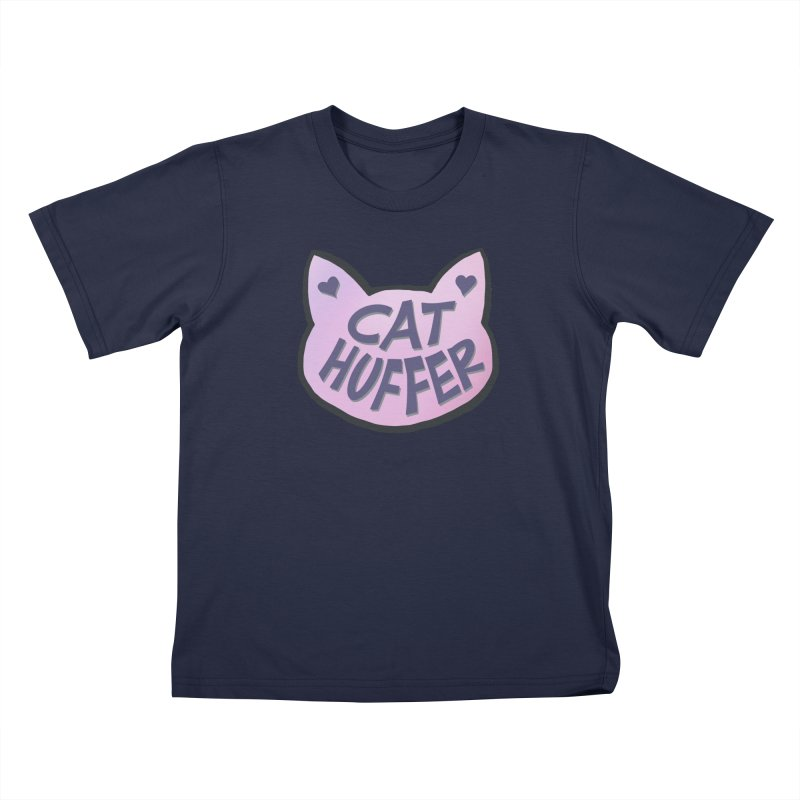 Cat Huffer Kids T-Shirt by Henry Noodle Shop