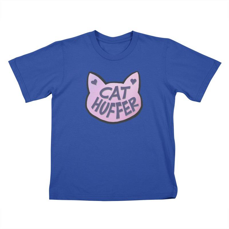 Cat Huffer Kids T-Shirt by Henry Noodle Shop