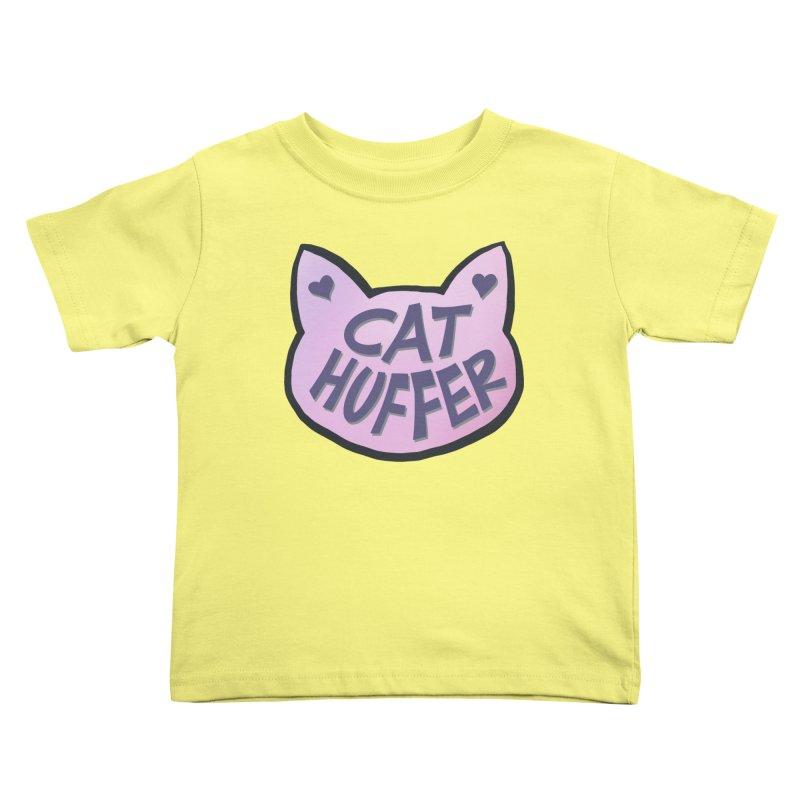 Cat Huffer Kids Toddler T-Shirt by Henry Noodle Shop