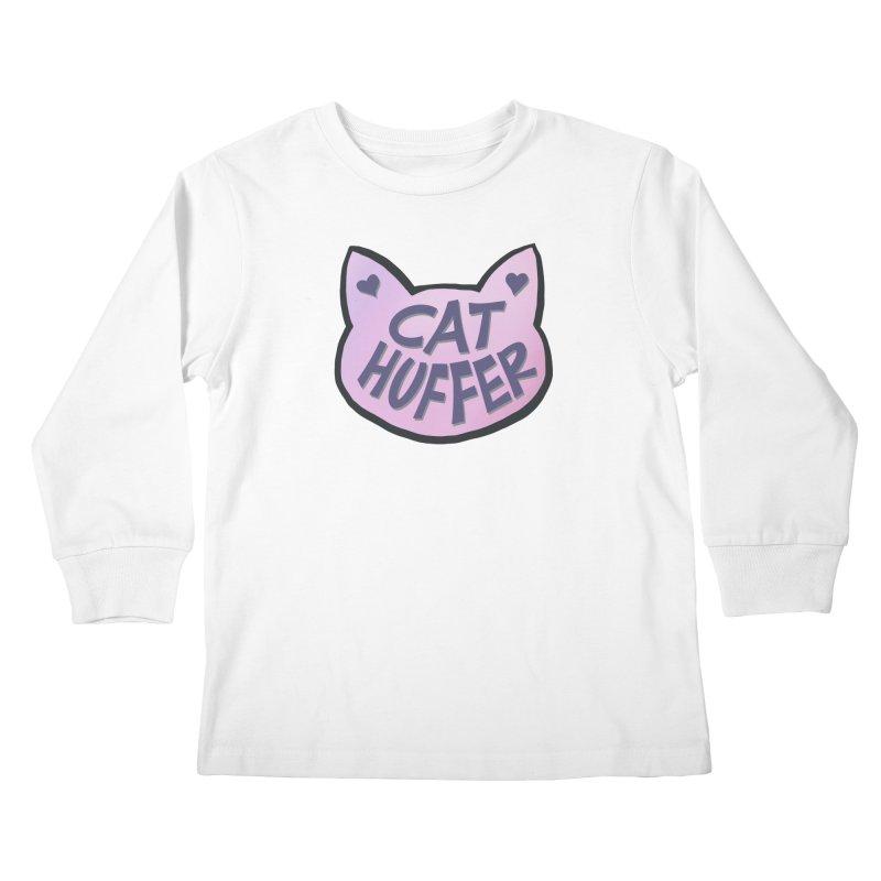 Cat Huffer Kids Longsleeve T-Shirt by Henry Noodle Shop