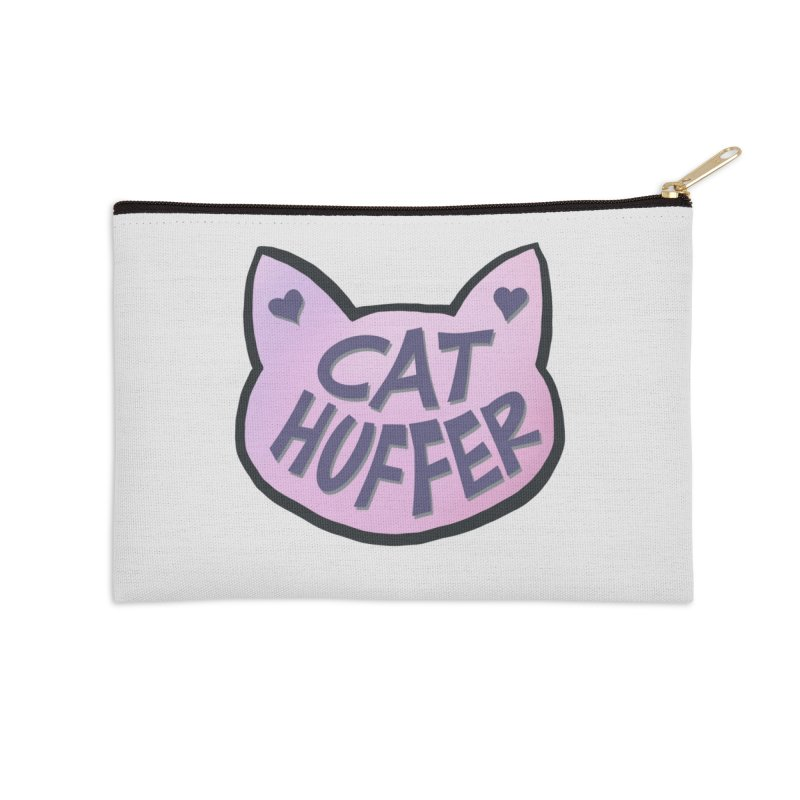 Cat Huffer Accessories Zip Pouch by Henry Noodle Shop