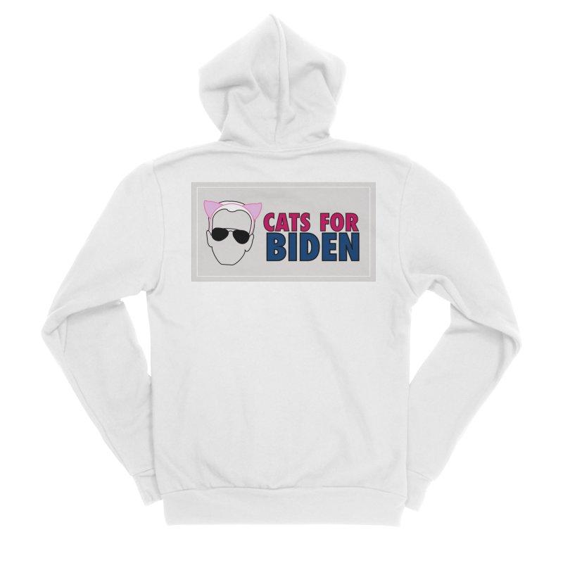 Cats for Biden Men's Zip-Up Hoody by Henry Noodle Shop