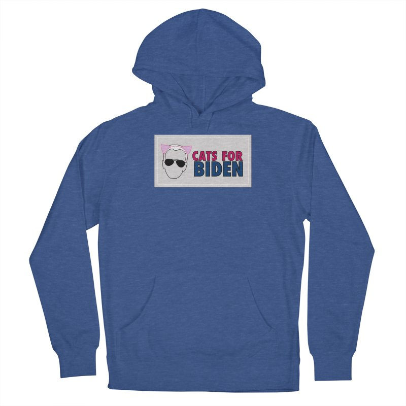 Cats for Biden Men's Pullover Hoody by Henry Noodle Shop