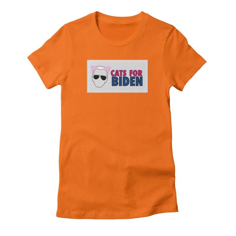 Cats for Biden Women's T-Shirt by Henry Noodle Shop