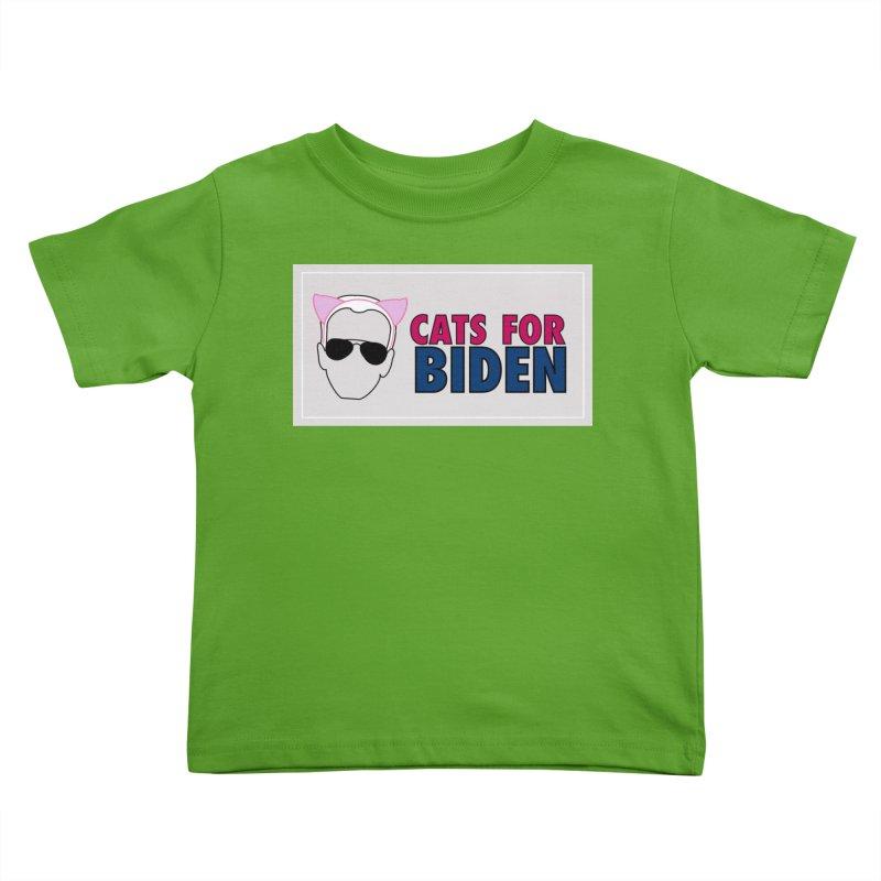 Cats for Biden Kids Toddler T-Shirt by Henry Noodle Shop