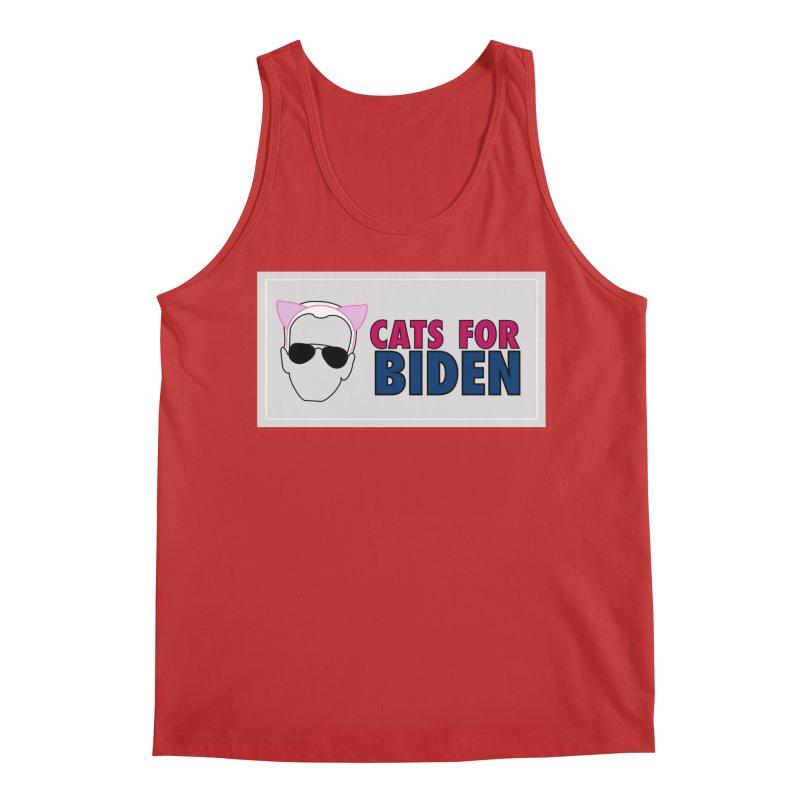 Cats for Biden Men's Tank by Henry Noodle Shop