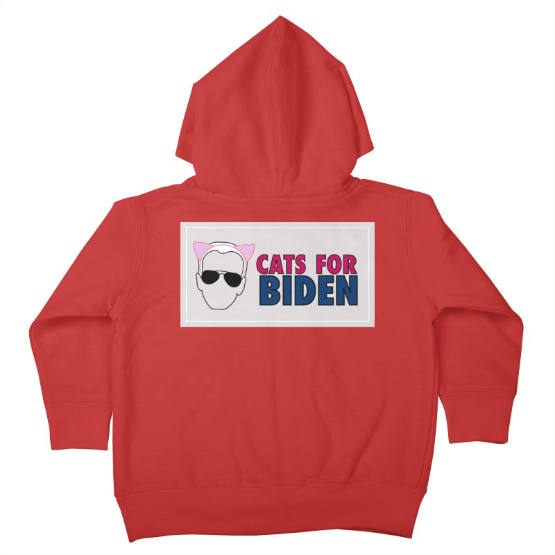 Cats for Biden Kids Toddler Zip-Up Hoody by Henry Noodle Shop