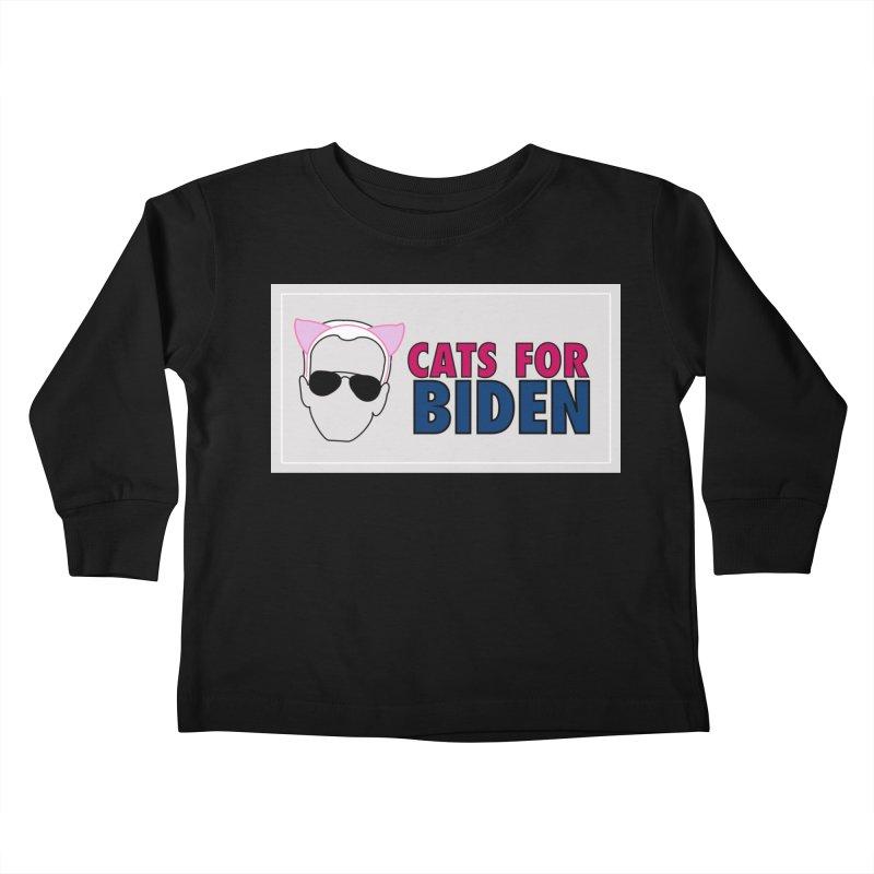 Cats for Biden Kids Toddler Longsleeve T-Shirt by Henry Noodle Shop