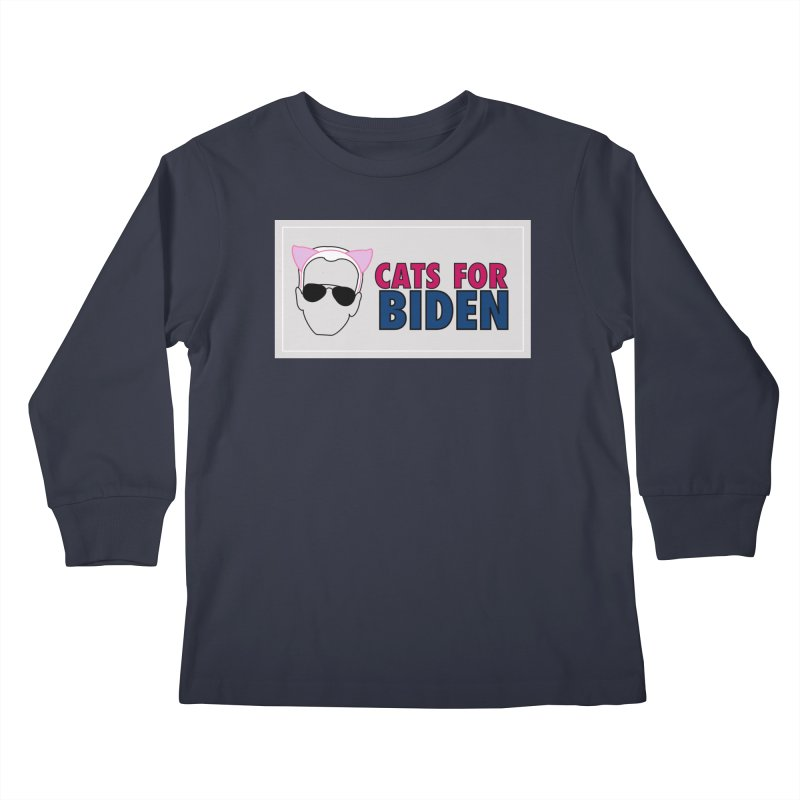 Cats for Biden Kids Longsleeve T-Shirt by Henry Noodle Shop