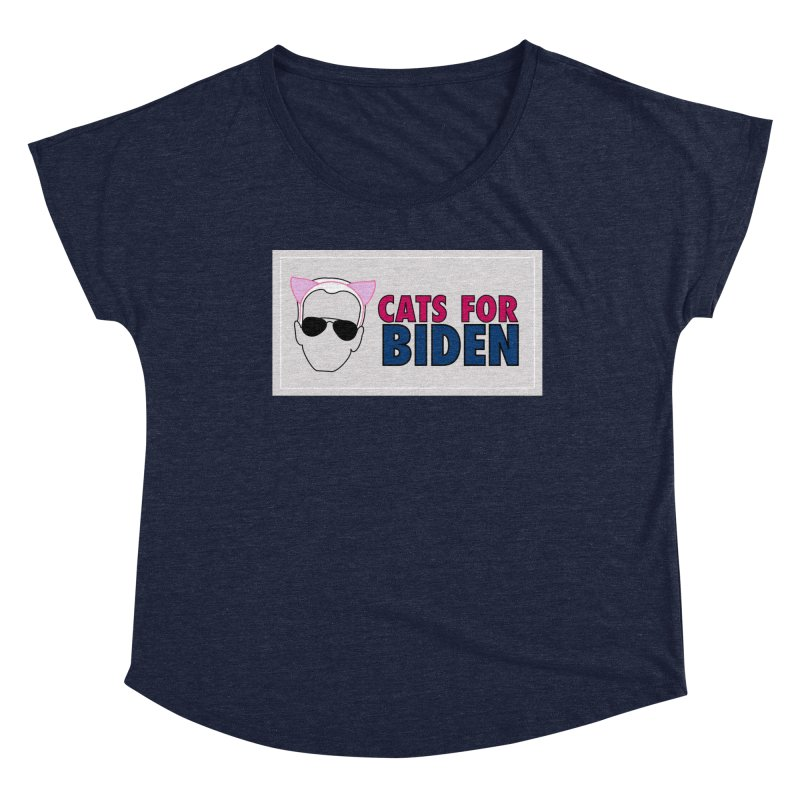 Cats for Biden Women's Scoop Neck by Henry Noodle Shop