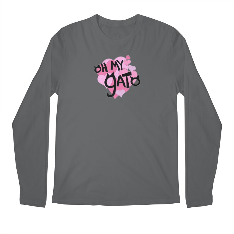 Oh My Gato Men's Longsleeve T-Shirt by Henry Noodle Shop