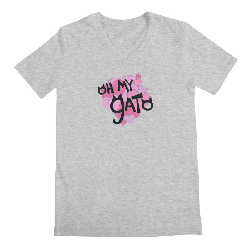 Oh My Gato Men's V-Neck by Henry Noodle Shop