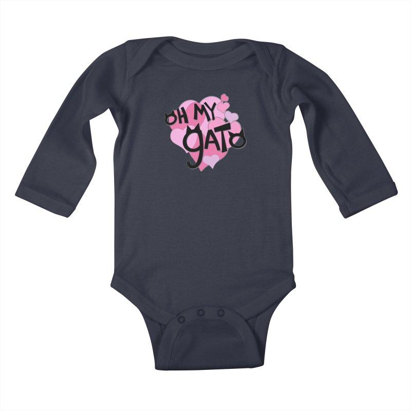 Oh My Gato Kids Baby Longsleeve Bodysuit by Henry Noodle Shop