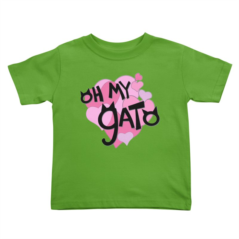 Oh My Gato Kids Toddler T-Shirt by Henry Noodle Shop