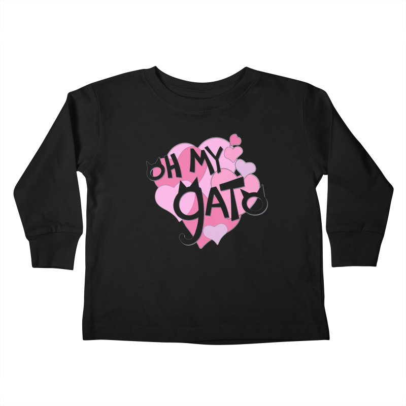 Oh My Gato Kids Toddler Longsleeve T-Shirt by Henry Noodle Shop