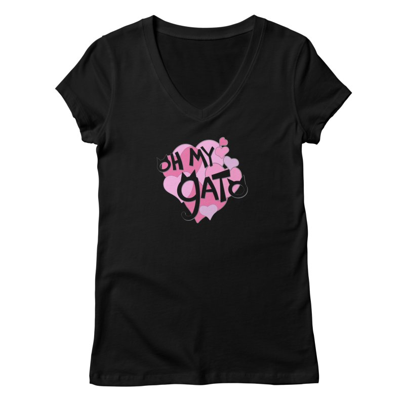 Oh My Gato Women's V-Neck by Henry Noodle Shop
