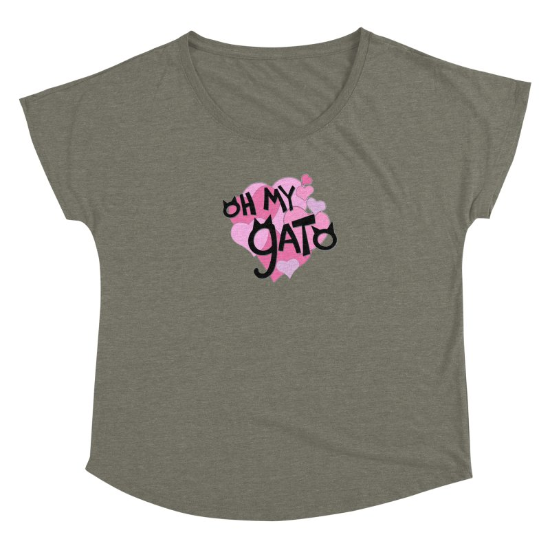 Oh My Gato Women's Scoop Neck by Henry Noodle Shop