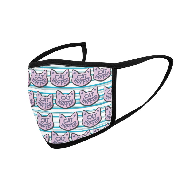 Cat Huffer with Stripes Accessories Face Mask by Henry Noodle Shop