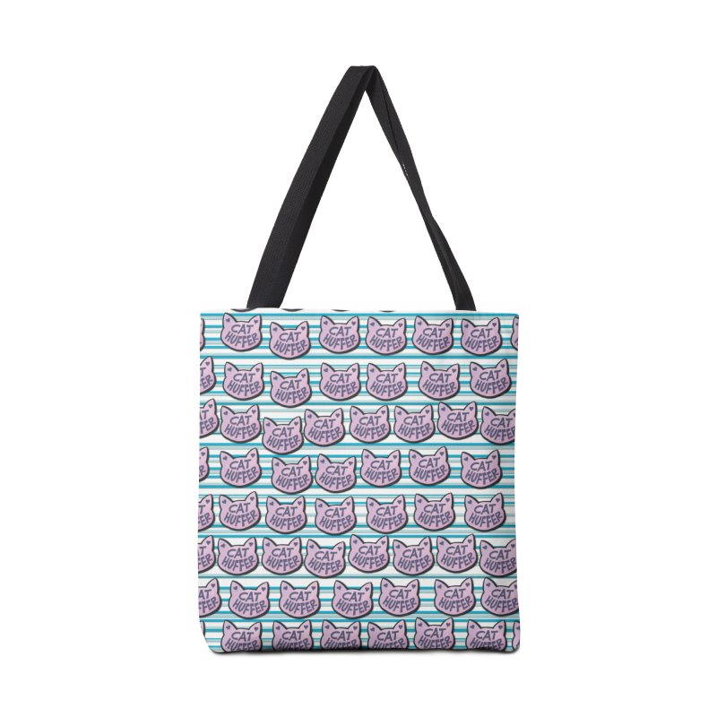 Cat Huffer with Stripes Accessories Bag by Henry Noodle Shop