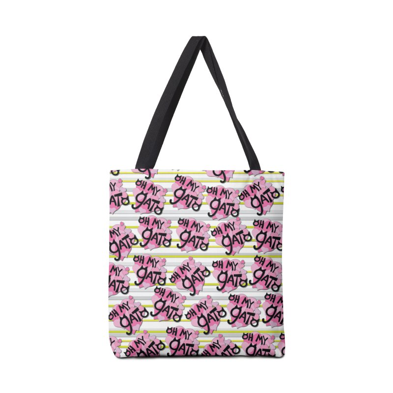 Oh My Gato and Stripes Accessories Bag by Henry Noodle Shop