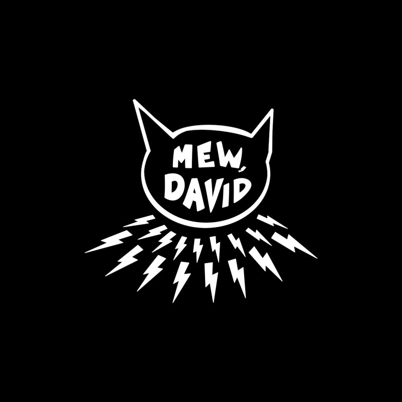 Mew, David Men's V-Neck by Henry Noodle Shop