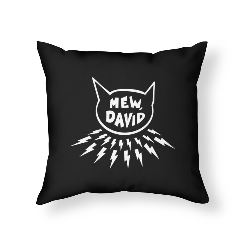 Mew, David Home Throw Pillow by Henry Noodle Shop