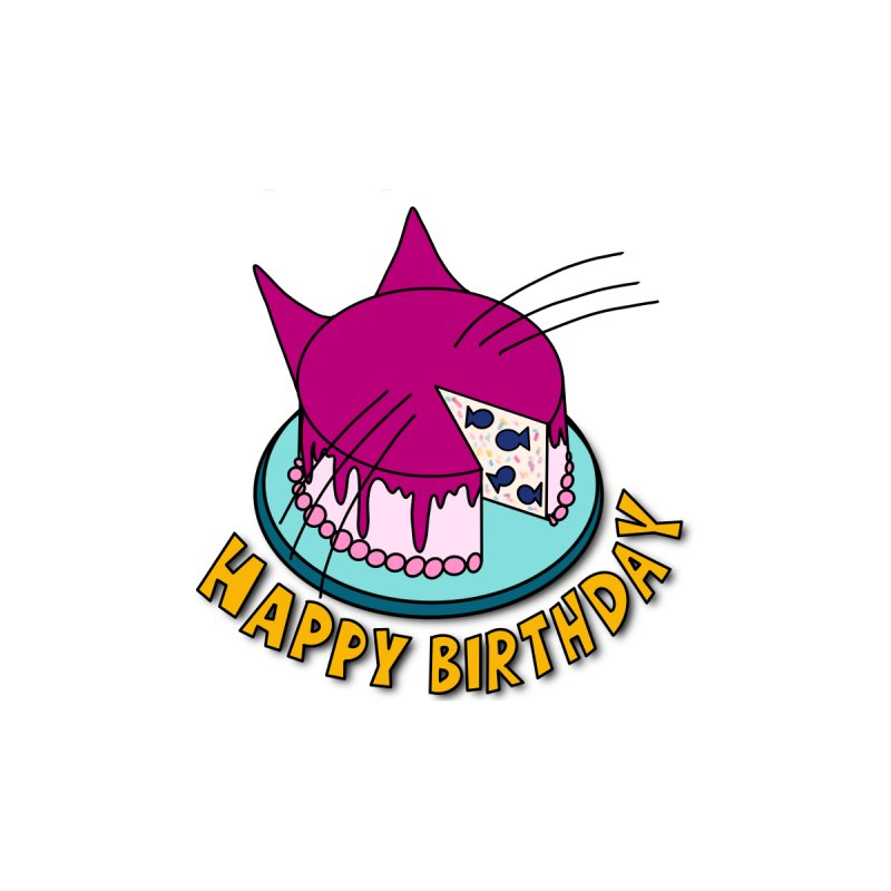 Happy Birthday Cat Fish Cake Men's T-Shirt by Henry Noodle Shop