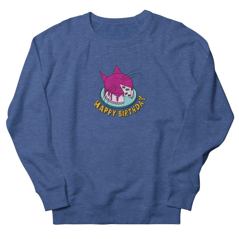 Happy Birthday Cat Fish Cake Men's Sweatshirt by Henry Noodle Shop