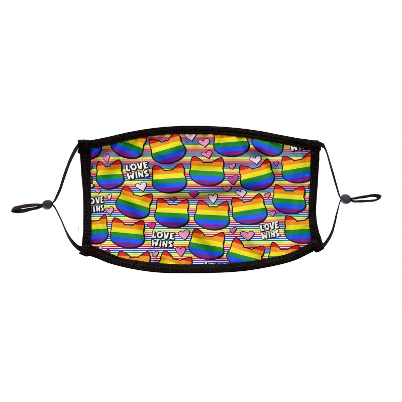 Pride - Love Wins! Accessories Face Mask by Henry Noodle Shop