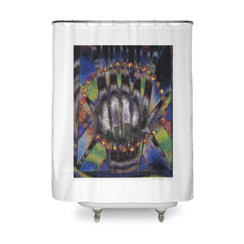 Fountain162 Home Shower Curtain by HerbOpitzArt's Artist Shop