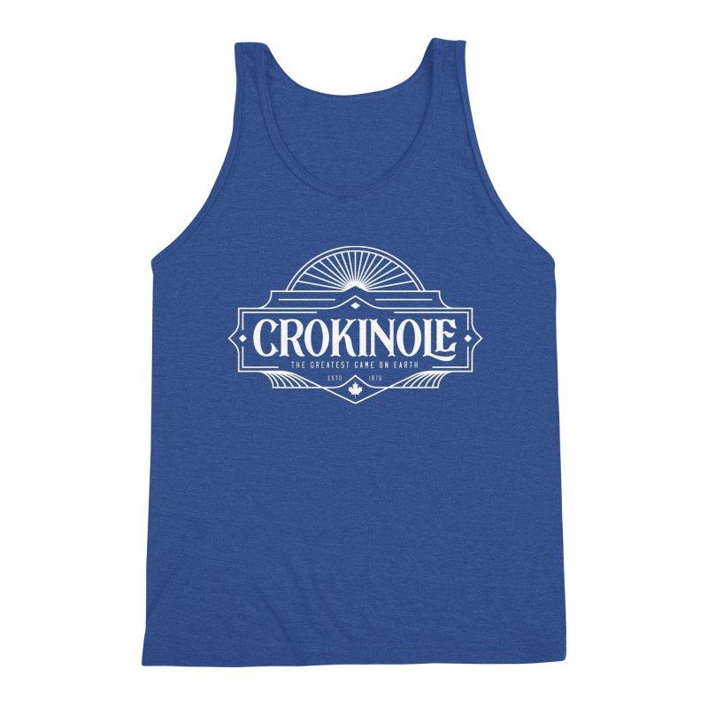 Crokinole - Greatest Game on Earth Men's Tank by Herhuth Design