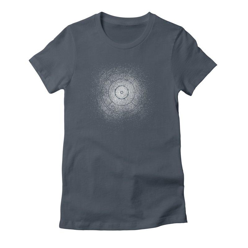 Crokinole Sprayed Women's T-Shirt by Herhuth Design