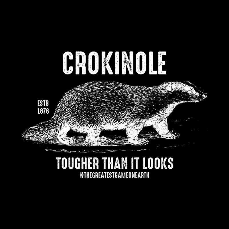 Crokinole Honey Badger Men's T-Shirt by Herhuth Design