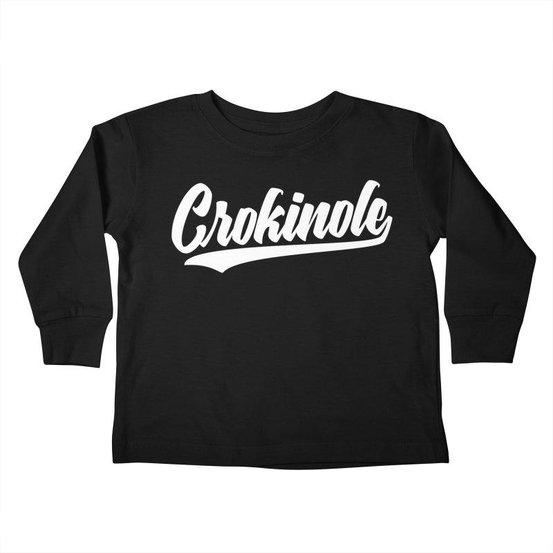 Crokinole Baseball Logo Kids Toddler Longsleeve T-Shirt by Herhuth Design