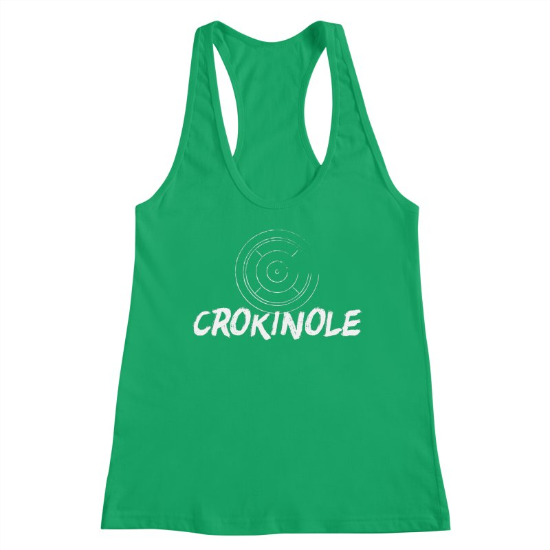 Crokinole Distressed Logo Women's Tank by Herhuth Design