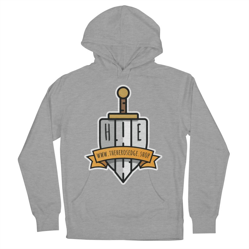 The Hero's Edge Sword & Shield Website Banner Men's French Terry Pullover Hoody by The Hero's Edge