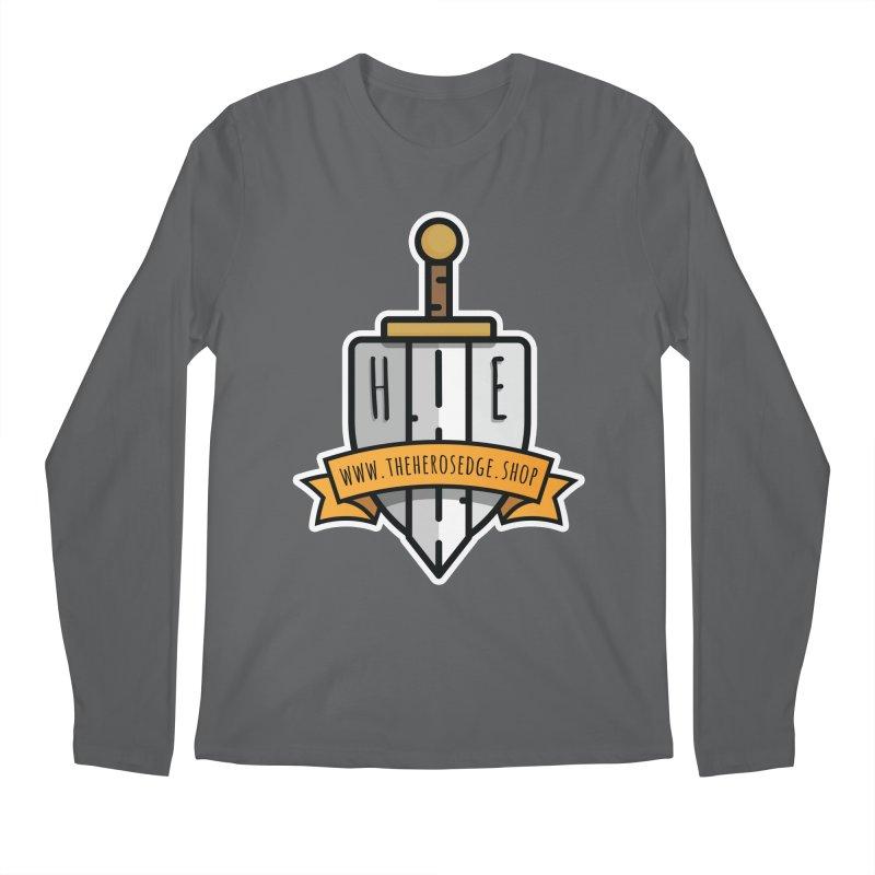 The Hero's Edge Sword & Shield Website Banner Men's Regular Longsleeve T-Shirt by The Hero's Edge