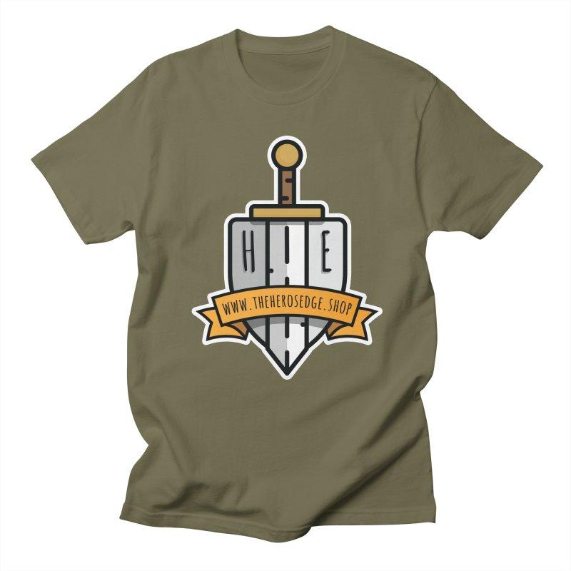 The Hero's Edge Sword & Shield Website Banner Men's Regular T-Shirt by The Hero's Edge