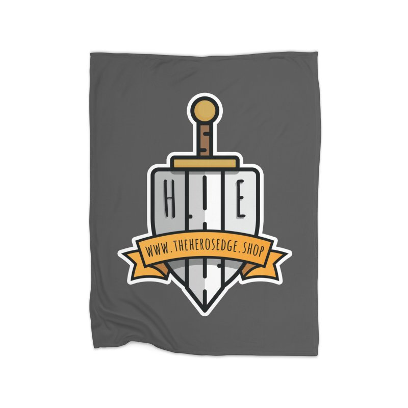 The Hero's Edge Sword & Shield Website Banner Home Fleece Blanket Blanket by The Hero's Edge
