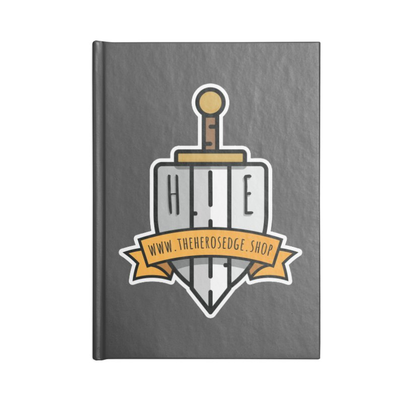 The Hero's Edge Sword & Shield Website Banner Accessories Lined Journal Notebook by The Hero's Edge
