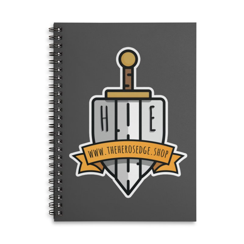 The Hero's Edge Sword & Shield Website Banner Accessories Lined Spiral Notebook by The Hero's Edge