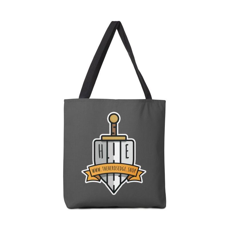 The Hero's Edge Sword & Shield Website Banner Accessories Tote Bag Bag by The Hero's Edge