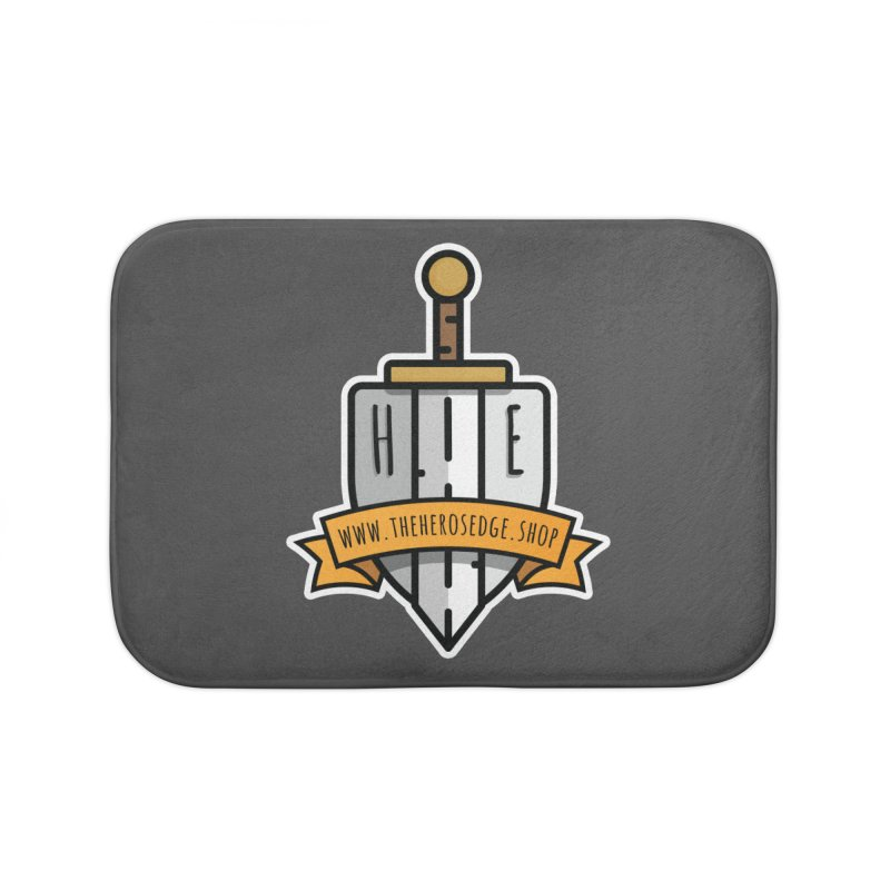 The Hero's Edge Sword & Shield Website Banner Home Bath Mat by The Hero's Edge