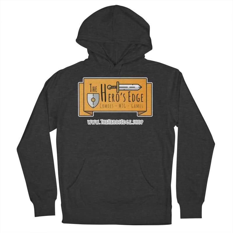The Hero's Edge Website Banner Men's French Terry Pullover Hoody by The Hero's Edge