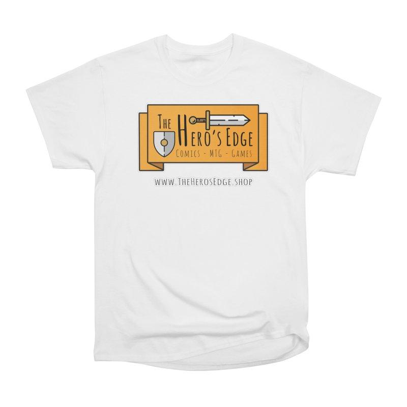 The Hero's Edge Website Banner Men's Heavyweight T-Shirt by The Hero's Edge